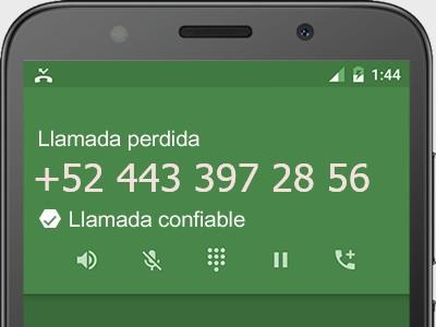 4433972856 número estafador? es spam? ¿A qué empresa pertenece? 4433972856