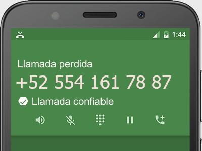 5541617887 número estafador? es spam? ¿A qué empresa pertenece? 5541617887