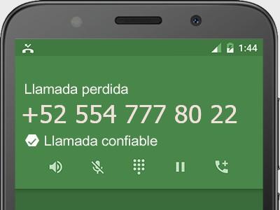 5547778022 número estafador? es spam? ¿A qué empresa pertenece? 5547778022
