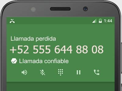 5556448808 número estafador? es spam? ¿A qué empresa pertenece? 5556448808