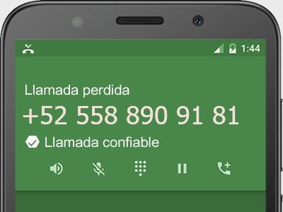 5588909181 número estafador? es spam? ¿A qué empresa pertenece? 5588909181