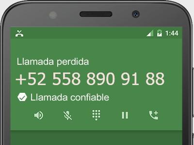 5588909188 número estafador? es spam? ¿A qué empresa pertenece? 5588909188