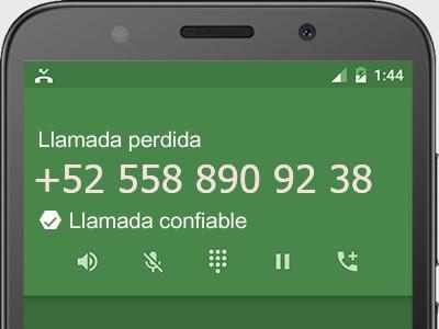 5588909238 número estafador? es spam? ¿A qué empresa pertenece? 5588909238