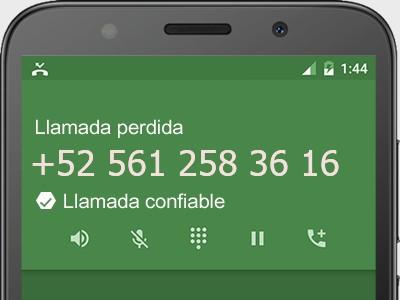 5612583616 número estafador? es spam? ¿A qué empresa pertenece? 5612583616