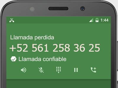 5612583625 número estafador? es spam? ¿A qué empresa pertenece? 5612583625