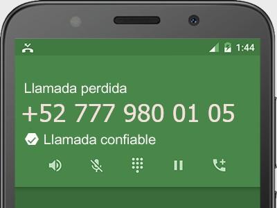 7779800105 número estafador? es spam? ¿A qué empresa pertenece? 7779800105