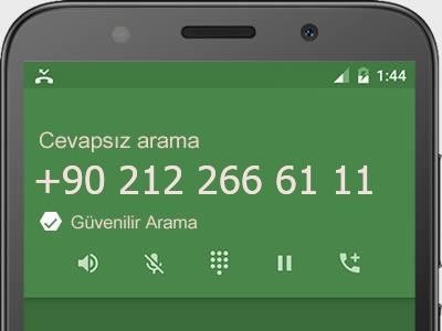 0212 266 61 11 numarası dolandırıcı mı? spam mı? hangi firmaya ait? 0212 266 61 11 numarası hakkında yorumlar