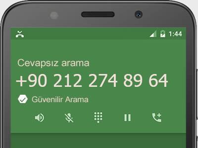 0212 274 89 64 numarası dolandırıcı mı? spam mı? hangi firmaya ait? 0212 274 89 64 numarası hakkında yorumlar