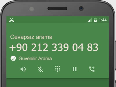 0212 339 04 83 numarası dolandırıcı mı? spam mı? hangi firmaya ait? 0212 339 04 83 numarası hakkında yorumlar