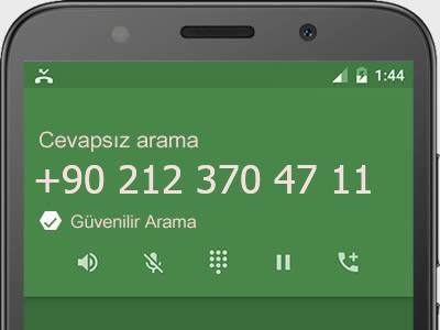 0212 370 47 11 numarası dolandırıcı mı? spam mı? hangi firmaya ait? 0212 370 47 11 numarası hakkında yorumlar
