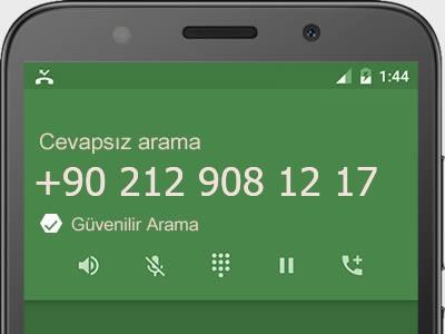 0212 908 12 17 numarası dolandırıcı mı? spam mı? hangi firmaya ait? 0212 908 12 17 numarası hakkında yorumlar