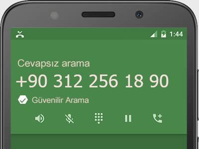 0312 256 18 90 numarası dolandırıcı mı? spam mı? hangi firmaya ait? 0312 256 18 90 numarası hakkında yorumlar