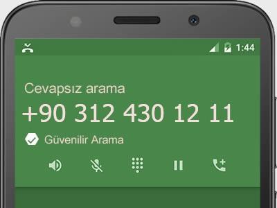 0312 430 12 11 numarası dolandırıcı mı? spam mı? hangi firmaya ait? 0312 430 12 11 numarası hakkında yorumlar