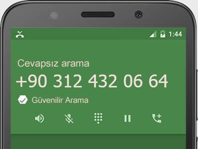 0312 432 06 64 numarası dolandırıcı mı? spam mı? hangi firmaya ait? 0312 432 06 64 numarası hakkında yorumlar