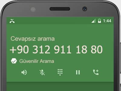 0312 911 18 80 numarası dolandırıcı mı? spam mı? hangi firmaya ait? 0312 911 18 80 numarası hakkında yorumlar