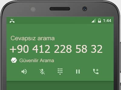 0412 228 58 32 numarası dolandırıcı mı? spam mı? hangi firmaya ait? 0412 228 58 32 numarası hakkında yorumlar