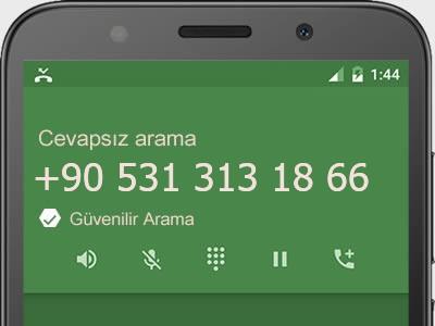 0531 313 18 66 numarası dolandırıcı mı? spam mı? hangi firmaya ait? 0531 313 18 66 numarası hakkında yorumlar